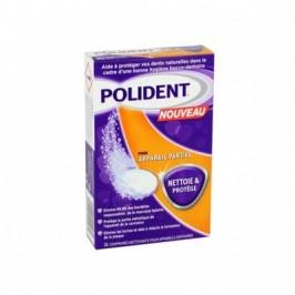 Polident nettoie et protège pour appareil dentaire partiel 30 comprimés
