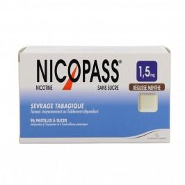 Nicopass 1.5mg sans sucre réglisse menthe 96 pastilles