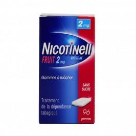 Nicotinell fruit 2mg sans sucre 96 gommes à mâcher