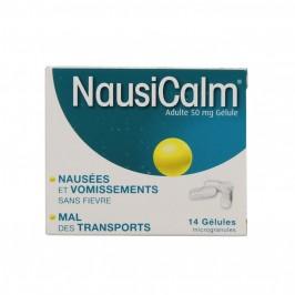 Nausicalm adultes 50mg 14 gélules