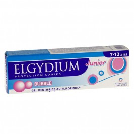 Elgydium dentifrice junior protection caries 7-12 ans bubble 50ml