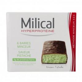 Milical Barres Hyperprotéinées Minceur Pistache x6