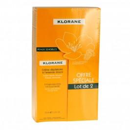 Klorane Crème Dépilatoire Peaux Sensibles 2x150ml