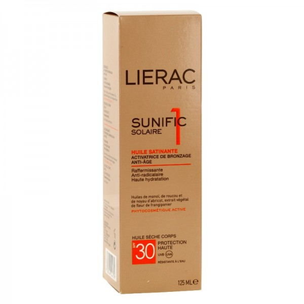 lierac sunific spf30 huile satinante 125ml. Black Bedroom Furniture Sets. Home Design Ideas