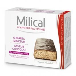 Milical Hyperprotéiné Chocolat 6 Barres