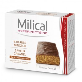 Milical hyperprotéiné caramel 6 barres