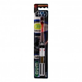 Gum Brosse à Dents Star Wars Sabre Laser Souple Compact