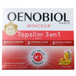 Oenobiol Top slim 3 en 1 14 sticks goût agrumes