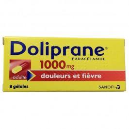 Doliprane 1000mg douleurs et fièvre 8 gélules