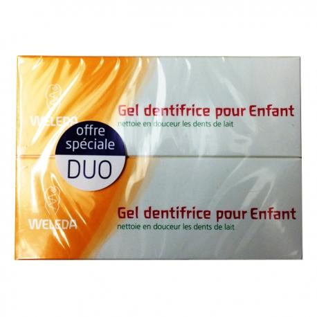 Weleda gel dentifrice pour enfant lot de 2 x 50ml