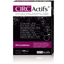 Aragan Synactifs Circactifs Circulation 30 gélules
