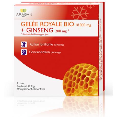 Aragan Gelée Royale Bio et Ginseng 1 mois