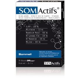 Aragan Synactifs SomActifs Sommeil 30 gélules