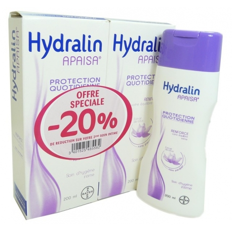 Hydralin apaisa soin intime quotidien 400ml x2