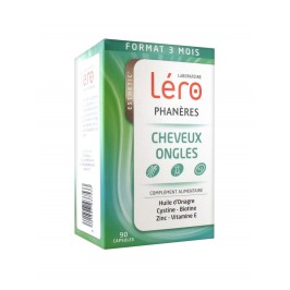 Léro phaneres cheveux ongles 90 capsules