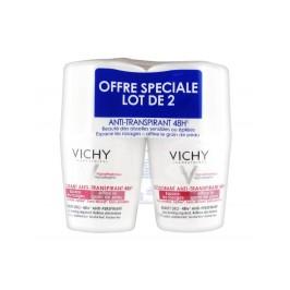 Vichy Déodorant Anti-Transpirant Bille 48H Anti Repousse Peau Sensible ou Epilée Lot de 2x50ml