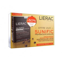 Lierac sunific préparateur capsules lot de 2 x 30 capsules