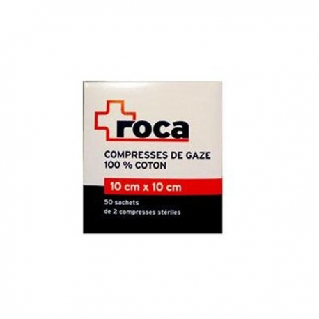 roca compresses de gaze st riles 10x10cm pharmacie anglo fran aise. Black Bedroom Furniture Sets. Home Design Ideas