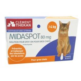 Clément Thékan Midaspot 80 mg Gros Chats 4 Pipettes