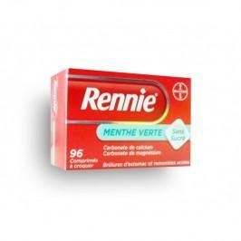 Rennie Menthe Verte Sans Sucre 96 comprimés