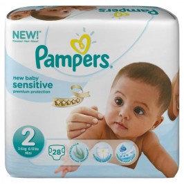 Pampers new baby sensitive taille 2 28 couches