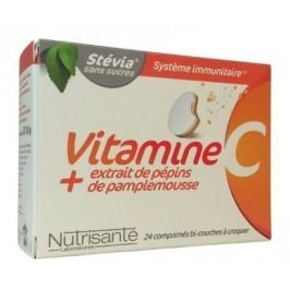 Nutrisanté Vitamine C + Extrait de Pamplemousse 24 Comprimés
