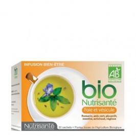 Nutrisanté infusion bio foie et vesicule 20 sachets