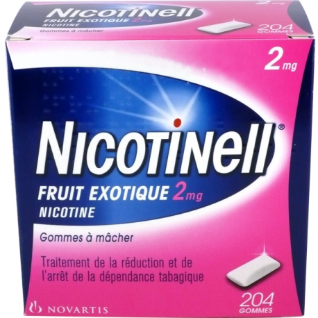 Nicotinell fruits exotiques 2mg 204 gommes