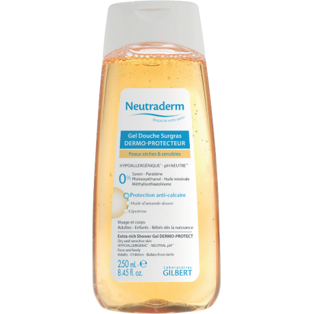 Gilbert neutraderm gel douche surgras dermo protecteur 250ml pharmacie anglo fran aise - Neutrapharm gel douche surgras ...