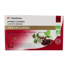 Arkofluide Bio Jambes Légères Ampoules buvables 15 ml x20