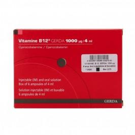 VIT B12 GERDA 1000MCG S INJ 6AMP/4ML