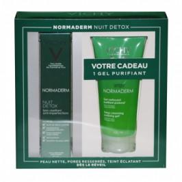 Vichy Normaderm Coffret Nuit Detox 40 ml + gel nettoyant 100ml offert