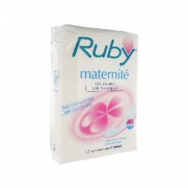 Ruby Serviettes Maternité x12
