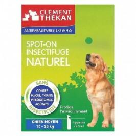 Clément thékan Spot-on insectifuge naturel Chien moyen de 10 à 25kg 4 pipettes