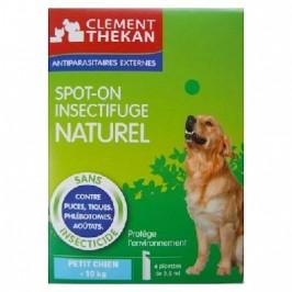Clément thékan Spot-on insectifuge naturel petit chien jusqu'à 10kg 4 pipettes