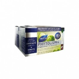 Phyto Phytolium 4 Traitement Anti-Chute Stimulateur de Croissance Homme Lot de 2 x 12 Ampoules