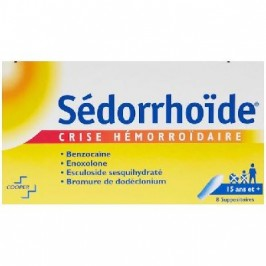Sédorrhoïde 8 Suppositoires