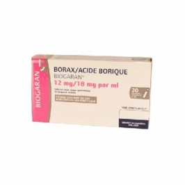 Borax/Acide borique Biogaran 12mg/18mg/ml 20 unidoses