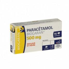 Paracétamol Biogaran 500mg 16 comprimés