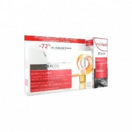 Vichy Dercos Aminexil Pro Traitement Anti-Chute Intensif Triple Action Femme 18 Monodoses + Shampooing 200 ml Offert