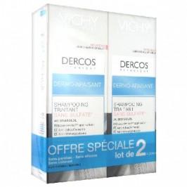 Vichy Dercos Shampooing Traitant Dermo-Apaisant Lot de 2 x 200 ml