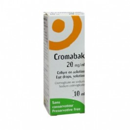 Cromabak collyre 20 mg 10ml