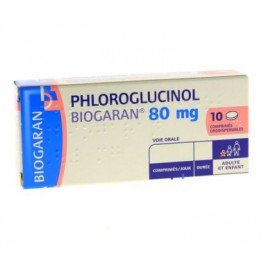 Phloroglucinol Biogaran 80mg 10 comprimés