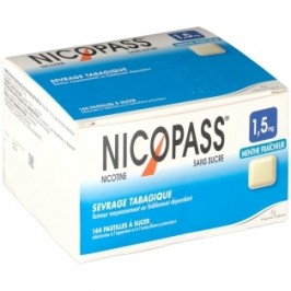 Nicopass 1,5mg 144 menthe fraîcheur