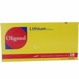 Oligosol Lithium 28 ampoules