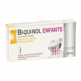 Biquinol enfant 10 suppositoires