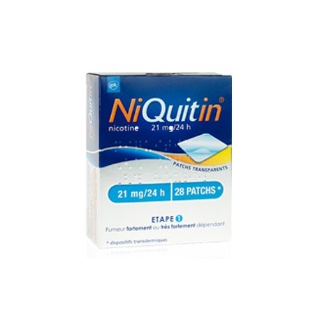 NIQUITIN 21mg/24 heures dispositif transdermique 28 patchs