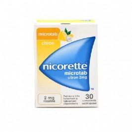 NICORETTE MICROTAB CITRON 2mg 30 comprimés sublingual