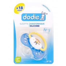 Dodie sucette silicone +18 mois garçon 1 sucette
