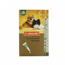 Bayer Advocate chiens de 4 kg ou moins boîte de 3 pipettes